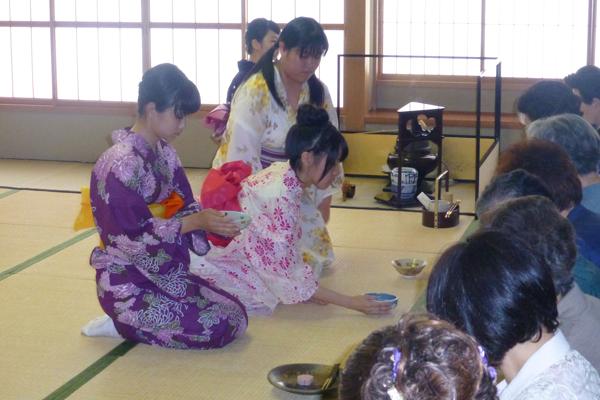 学校茶道茶会