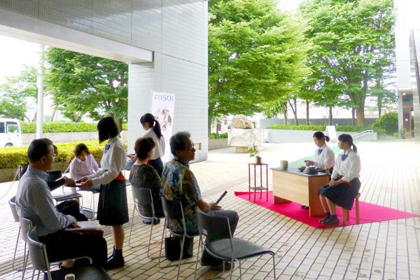県立美術館茶会